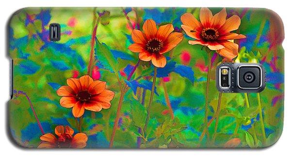 Pastel Flowers Galaxy S5 Case