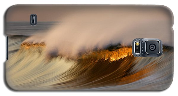Pastel Gold Wave  Mg9082 Galaxy S5 Case
