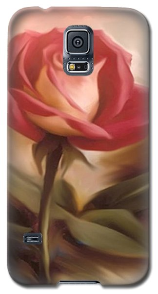 Pastel Light Red Rose Galaxy S5 Case