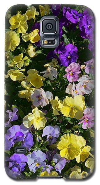Pastel Pansies Galaxy S5 Case