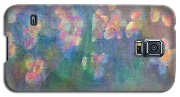 Galaxy S5 Case featuring the painting Pastel Petals by Holly Martinson