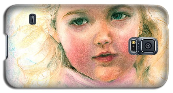Pastel Portrait Of An Angelic Girl Galaxy S5 Case by Greta Corens