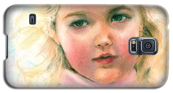 Pastel Portrait Of An Angelic Girl Galaxy S5 Case