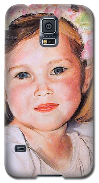 Pastel Portrait Of Girl With Flowers In Her Hair Galaxy S5 Case