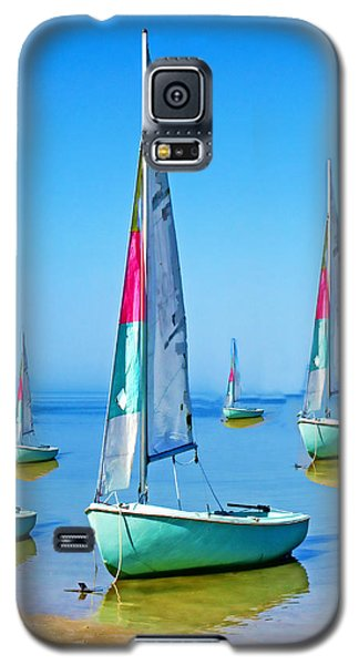 Pastel Sailboats Galaxy S5 Case by Oscar Alvarez Jr