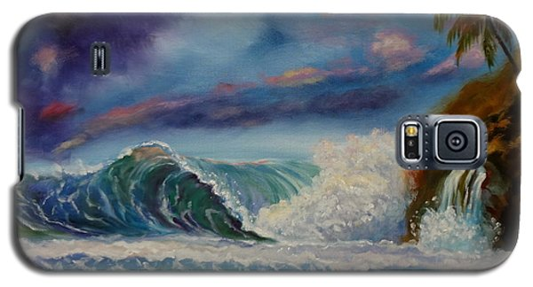 Galaxy S5 Case featuring the painting Pastel Sunset by Jenny Lee