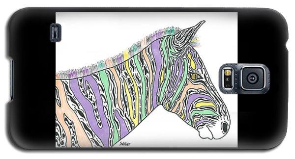 Pastel Zebra  Galaxy S5 Case by Susie Weber