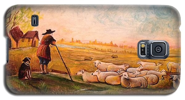 Galaxy S5 Case featuring the painting Pastoral Landscape by Egidio Graziani