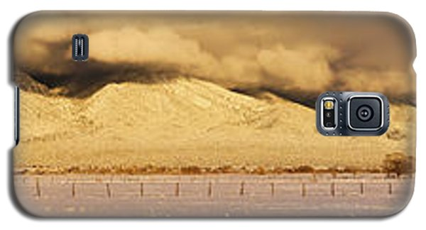 Sangre De Cristo Galaxy S5 Case - Pasture Land Covered In Snow At Sunset by Panoramic Images