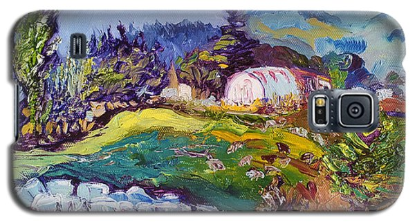 Pastures Landscape Oil Painting Galaxy S5 Case