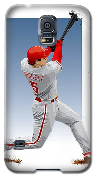 Galaxy S5 Case featuring the digital art Pat The Bat Burrell by Scott Weigner
