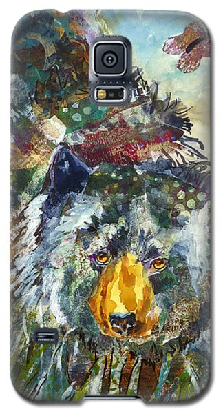 Galaxy S5 Case featuring the mixed media Patchwork Bear by P Maure Bausch