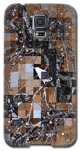 Galaxy S5 Case featuring the digital art Patchwork Crows by Denise Deiloh