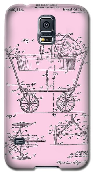 Patent Art Baby Carriage 1922 Mahr Design Pink Galaxy S5 Case