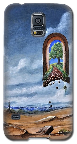 Galaxy S5 Case featuring the painting path not for public use II another way  by Mariusz Zawadzki