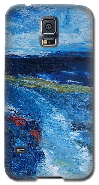 Galaxy S5 Case featuring the painting Pathway  To Oysterhaven Kinsale by Conor Murphy