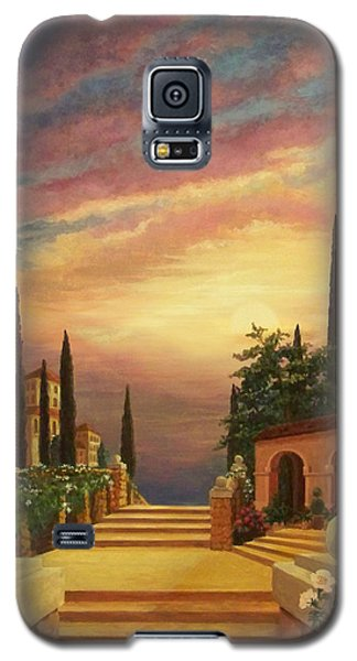 Patio Il Tramonto Or Patio At Sunset Galaxy S5 Case by Evie Cook