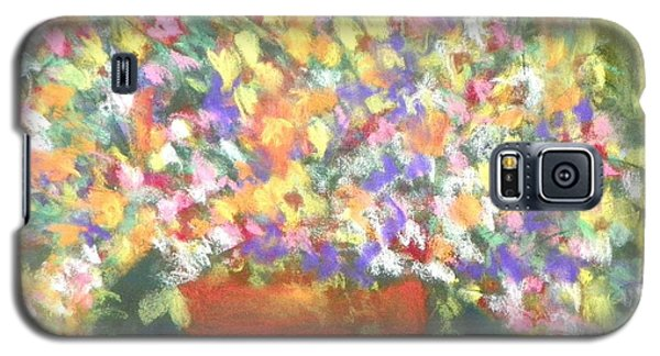Galaxy S5 Case featuring the photograph patio plants I by Shirley Moravec