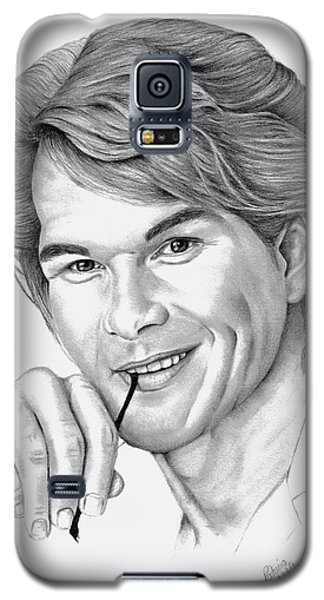 Galaxy S5 Case featuring the drawing Patrick Swayze by Patricia Hiltz
