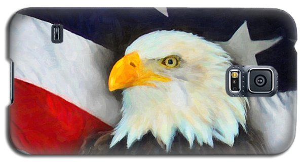Patriotic American Flag And Eagle Galaxy S5 Case