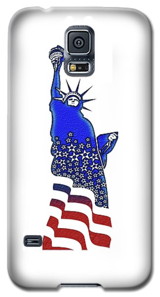 Patriotic Lady Liberty Galaxy S5 Case