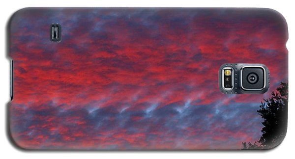 Galaxy S5 Case featuring the photograph Patriotic Sky At Sunset by Geri Glavis