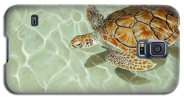 Patterns In Motion - Portrait Of A Sea Turtle Galaxy S5 Case