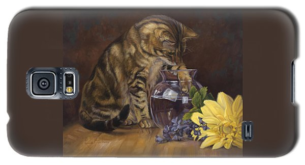 Paw In The Vase Galaxy S5 Case by Lucie Bilodeau