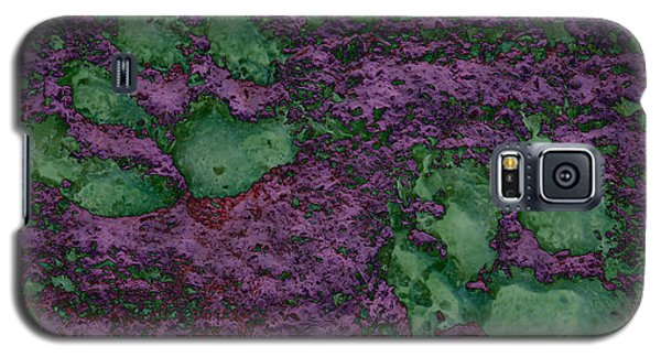 Paw Prints In Green And Mauve Galaxy S5 Case