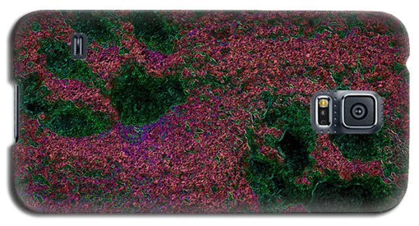 Paw Prints In Red And Green Galaxy S5 Case