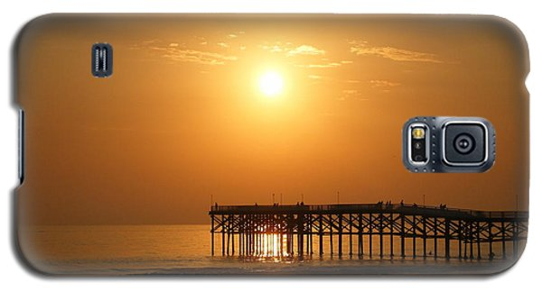Galaxy S5 Case featuring the photograph Pb Sunset Over The Pier by Nathan Rupert