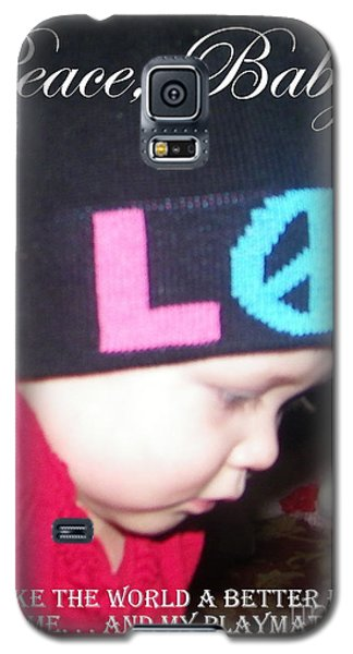 Galaxy S5 Case featuring the photograph Peace Baby by Bobbee Rickard