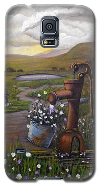 Galaxy S5 Case featuring the painting Peace In The Valley by Sheri Keith