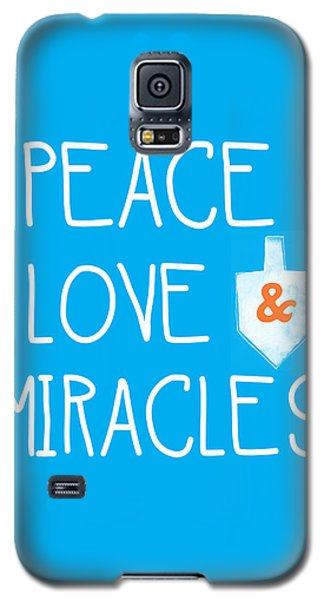 Card Galaxy S5 Case - Peace Love And Miracles With Dreidel  by Linda Woods