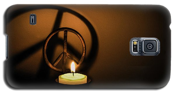 Peace Symbol Candle  Galaxy S5 Case