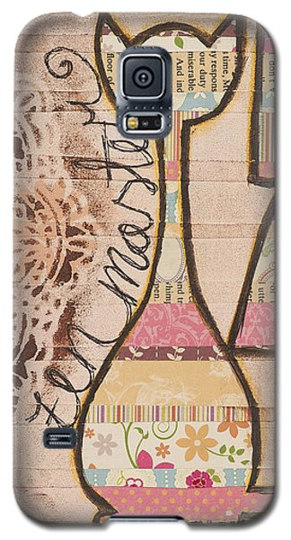 Galaxy S5 Case featuring the mixed media Peace - Zen Master Inspirational Art by Stanka Vukelic
