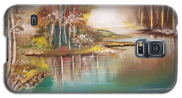 Galaxy S5 Case featuring the painting Peaceful Bayou by Nereida Rodriguez