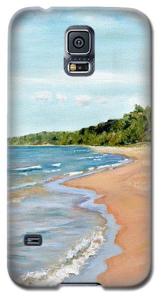 Peaceful Beach At Pier Cove Galaxy S5 Case