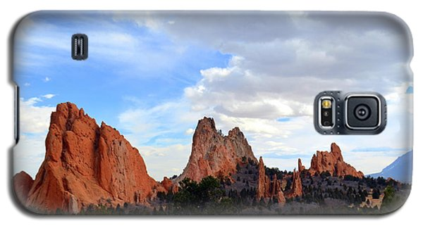 Peaceful Day In Garden Of The Gods Galaxy S5 Case by Clarice  Lakota