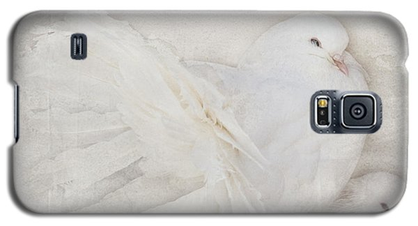 Peaceful Existence White On White Galaxy S5 Case by Barbara McMahon
