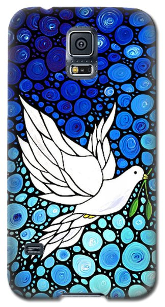 Peaceful Journey - White Dove Peace Art Galaxy S5 Case by Sharon Cummings