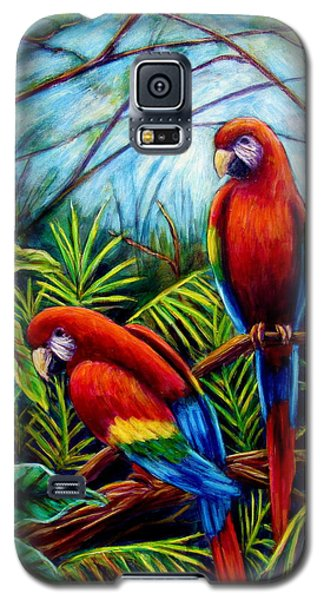 Peaceful Parrots Galaxy S5 Case