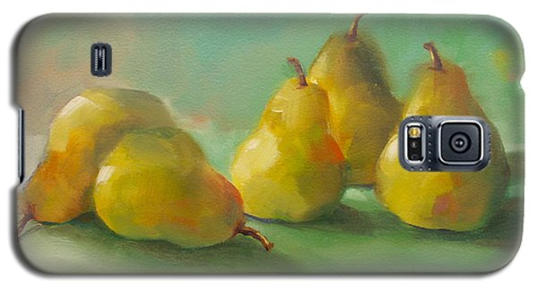 Galaxy S5 Case featuring the painting Peaceful Pears by Michelle Abrams