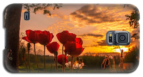 Galaxy S5 Case featuring the photograph Peaceful Poppy by Rose-Maries Pictures