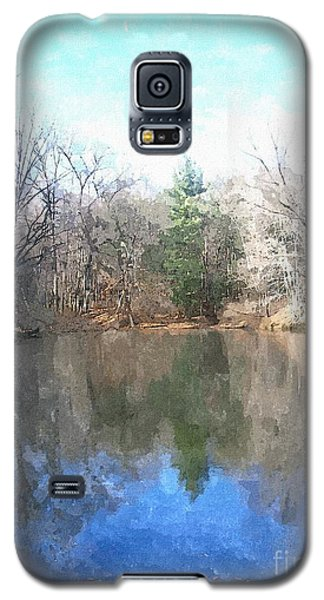 Galaxy S5 Case featuring the painting Peaceful Retreat 2 by Sara  Raber