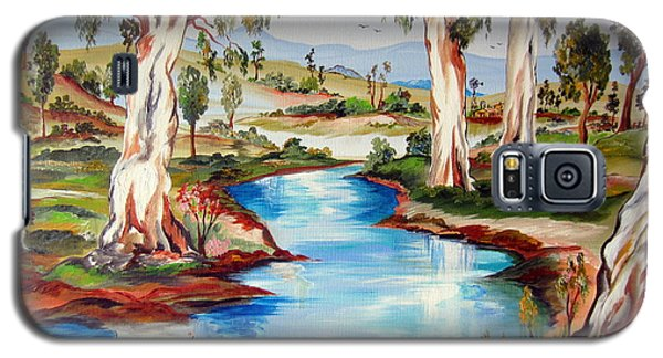 Peaceful River In The Australian Outback Galaxy S5 Case by Roberto Gagliardi