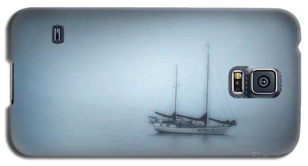 Peaceful Sailboat On A Foggy Morning From The Book My Ocean Galaxy S5 Case by Artist and Photographer Laura Wrede