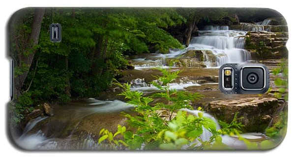 Galaxy S5 Case featuring the photograph Peaceful Stockbridge Falls  by Dave Files