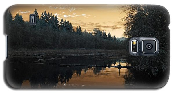 Galaxy S5 Case featuring the photograph Peaceful Sunset by Rebecca Parker