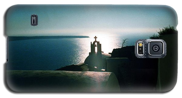 Galaxy S5 Case featuring the photograph Peaceful Sunset Santorini Island Greece by Colette V Hera  Guggenheim